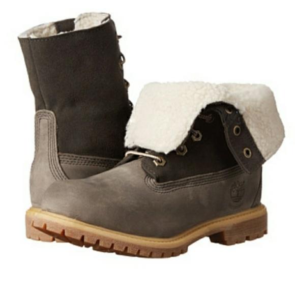 7909de40db2 Timberland Shoes   Teddy Fleece Fold Down Waterproof Boots   Poshmark